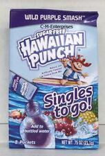 Hawaiian Punch Wild Purple Smash Singles to Go Sugar Free Drink Mix  .75 oz
