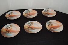 Hand painted Japanese Chikmmin China Plates Set Of 6
