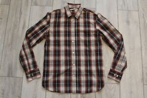 LEVI'S LEVI STRAUSS & Co RED TAB CHECKED SHIRT S SMALL