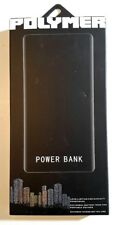 NEW Polymer Ultra Thin KD-180 10000mAh Power Bank, Black, with Torch