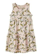 NAME IT Sommer Kleid NKFVigga ärmellos rosa Vögel Blumen Größe 116 bis 152