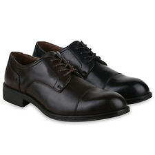 Herren Business Klassische Schnürer Basic Leder-Optik 825432 Schuhe