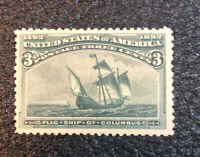 U.S. #232 Mint VF NH BEAUTY - 1893 3c Columbian DG