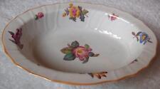 Spode fine china oval vegetable bowl~pttn Y6575~English florals~gold rim-NR