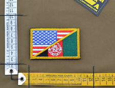 "Ricamata / Embroidered Patch ""USA / Afghanistan"" with VELCRO® brand hook"
