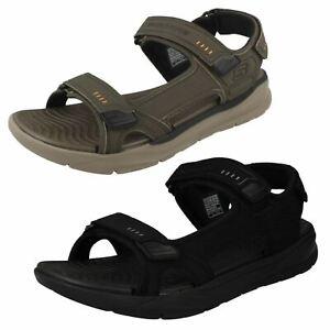 Mens Skechers Relaxed Fit Memory Foam Hook & Loop Synthetic Sandals Senco