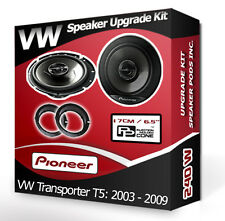 VW Transporter T5 Front Door Speakers Pioneer car speakers + adapter pods 240W