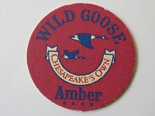 BEER COASTER ~ Wild Goose Amber ~ Original 1980's Brewery, Cambridge MD * CLOSED