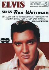 ELVIS SINGS BEN WEISMAN 2009 LIMITED TREASURES 10035-4098 2 PIC DISC RED CDS VG+