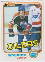 1981-82  Topps WAYNE GRETZKY NHL Hockey Card # 16 - EDMONTON OILERS HOF