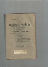 La Question de Population et problème sexuel contenant étude sur avortement 3 @@