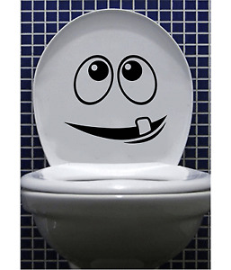 cartoon face Toilet Seat vinyl Sticker  Bathroom Decals