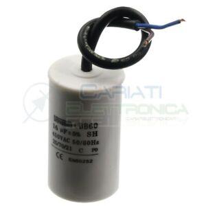 Condensatore elettrico 16uF 450V Cbb60 per motore cancello pompa elettropompa