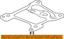 FORD OEM 11-16 F-450 Super Duty 6.7L-V8-Turbocharger Gasket BC3Z6587A