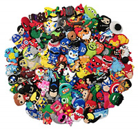 100 Mixed Pvc Shoe Charm Lot Different Charms Fit For Croc Jibbitz Wristband NEW