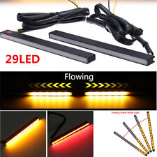 Turn signal and Brake lights Red/Amber DRL Flowing Light BAR Universal 12V 2PC