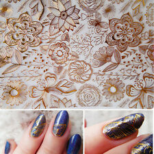 Embossed 3D Nail Art Stickers Tattoos Rose Flower Manicure Decals Tips #BP054