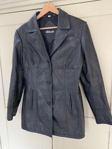 Vintage Genuine Black Leather Blazer / Jacket M Akaso 10/12