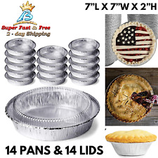 Foil Pie Pan With Lid Disposable Tart Tin Plates Round Deep Reheating Containers