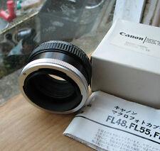 genuine canon FL FD manual macro photo coupler reverse mount  helicoid FL55 55mm