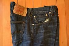 Mens Pre-Owned 36X34 Levi 501 Button Fly Straight Jeans