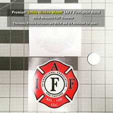 IAFF Firefighter Inside Window Mount Decal Red Black White 3.65 Inch 0216
