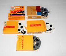 Kodak lot 4 used super 8 Film Movies and  1 roll of expired 110 Film Vintage