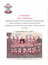 SOUTHAMPTON 1948-1949 RARE ORIGINAL FULLY HAND SIGNED TEAM GROUP INCL ALF RAMSEY