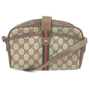 Vintage Gucci Shoulder Bag  Light Brown PVC 1006303