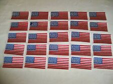 (D) American Flag  Patch Lot of 25 , White Border 3 1/2