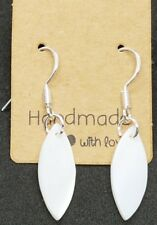 Mother of Shell Pearl sterling silver fashion earrings. Pretty gift jewellery.