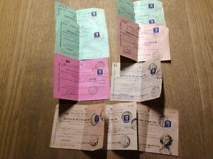 Lotto 129) 10 contravvenzioni (multe) Regno viaggiate con francobollo