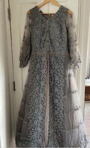 Pakistani Indian Wedding Party Eid Dress Suit Anarkali Size S/M Gown Long Suit