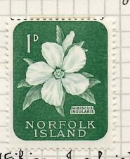 Norfolk Island 1960-62 Early Issue Fine Mint Hinged 1d. 096302