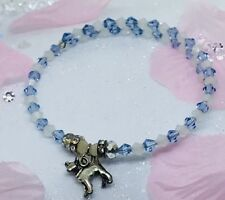 Chihuahua Dog Stunning Crystal Bangle Bracelet Adjustable -only One Made Unique