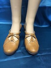 CLARKS STRAPPY MULES SZ 7M BROWN