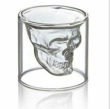 Skull Head Vodka Shot Glass Fun Creative Designer Doomed Crystal Party