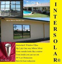 "48"" x 100 Feet Silver  MIRROR Tint  2 ply Dark Intersolar® 1% vlt  Privacy 100%"