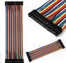 Male to Male 40PCS 20cm 2.54MM Dupont wire Jumper Cable For Arduino Breadboard