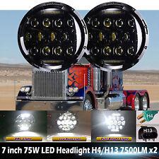For Peterbilt 379 LED Headlight 2Pcs 7inch Hi-Lo Beam 6015/H6017/H6024 DRL Light
