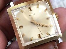 Vintage 1969 Timex Mercury Series Golden Mechanic Men's Watch Serviced New Strap