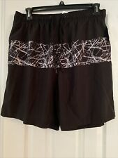 New listing Simply Styled Black Onyx Lined Swim Trunks - Size L - NWT!