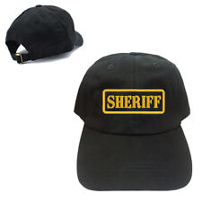 SHERIFF UNSTRUCTURED 100% COTTON CAP HAT BUCKLE BACK CLOSURE