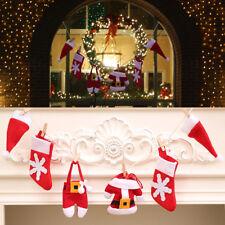 Fête de Noël Diy Bannière Chapeau Chaussettes Vêtements Pantalons Bruant Barre