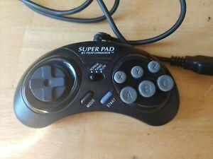 Super Pad Controller by Performance for Sega Genesis Sega CD