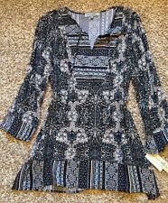 Figueroa and Flower Paisley Boho Peasant Women's Top Tunic Blouse Size L NWT!