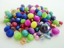 50g Colour Mix Electroplate Glass Beads Various Sizes & Shapes Jewellery Making