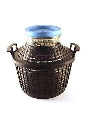 Damigiana con cesto e cupola plastica bocca larga 5 litri (vino,liquori,nocino)