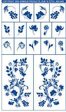 Rub 'n' Etch Glass Etching Stencil  ~ Flowers & Berrys