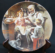 "Norman Rockwell Heritage #1 - ""The Toy Maker"" - Knowles Collector's Plate"